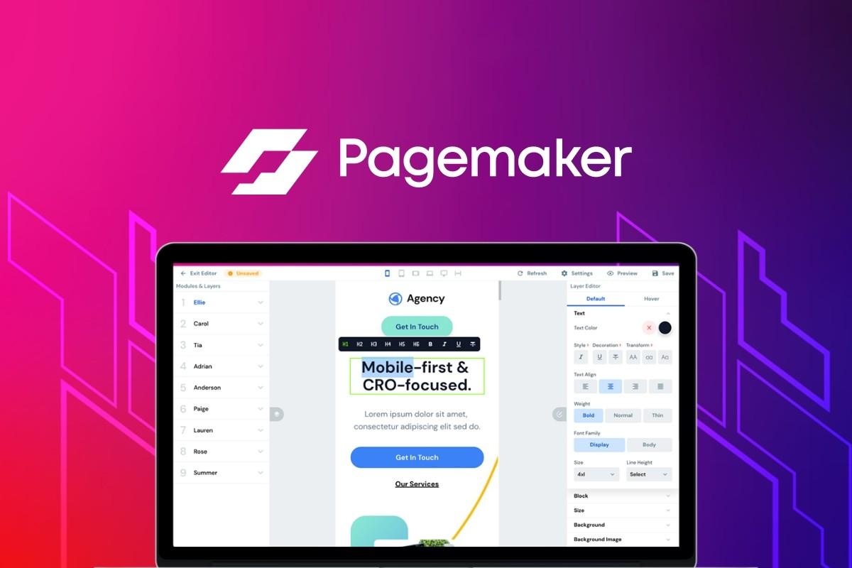 AppSumo Deal for Pagemaker