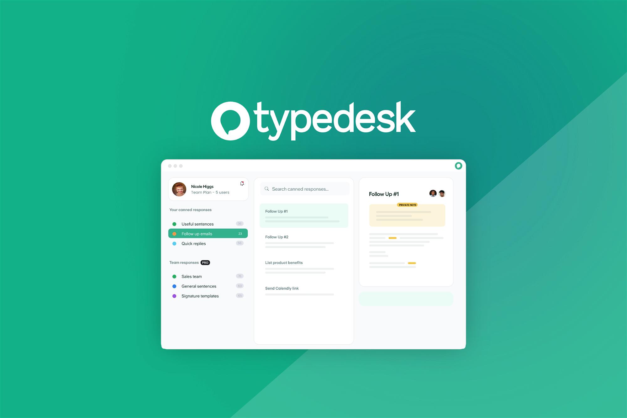 AppSumo Deal for typedesk