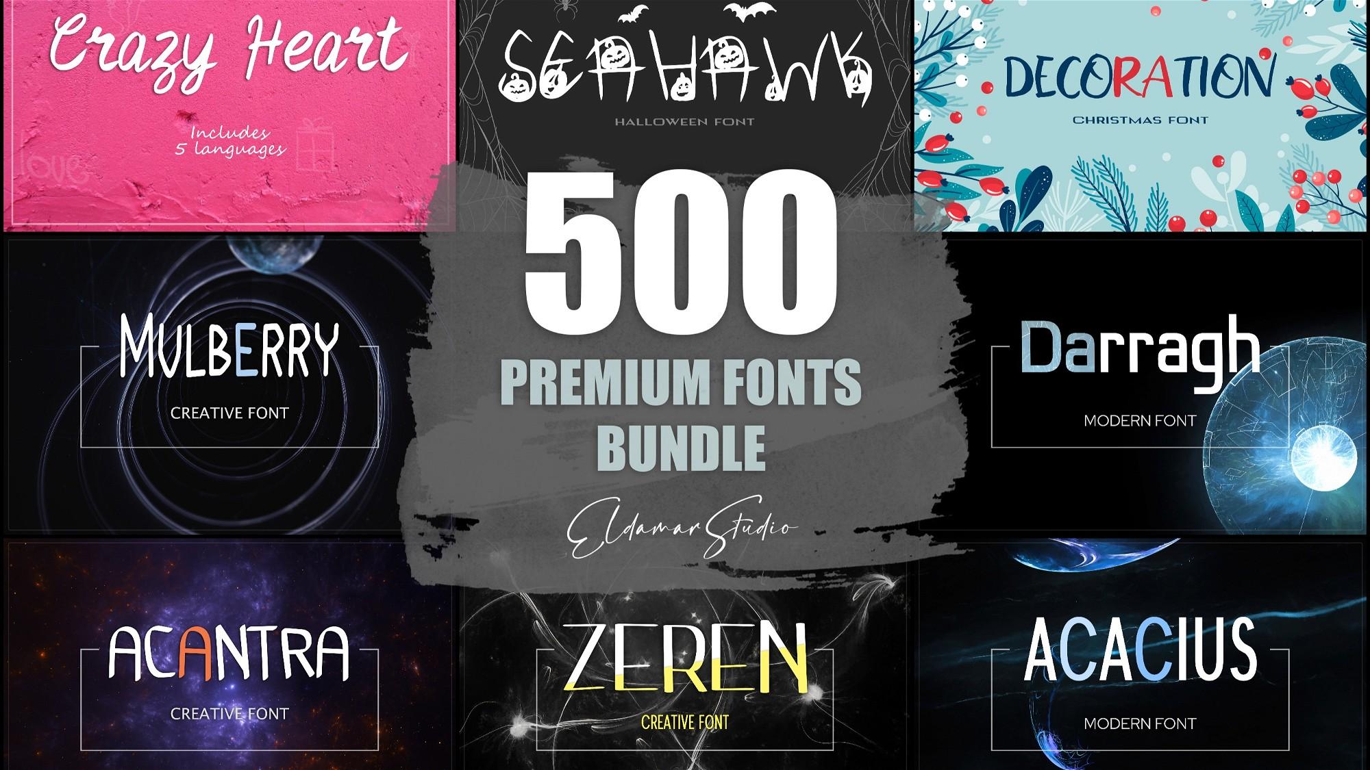 AppSumo Deal for 500 Premium Fonts Bundle