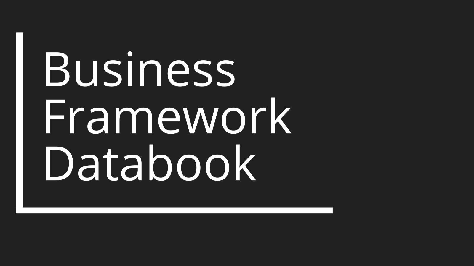 AppSumo Deal for Business Framework Databook