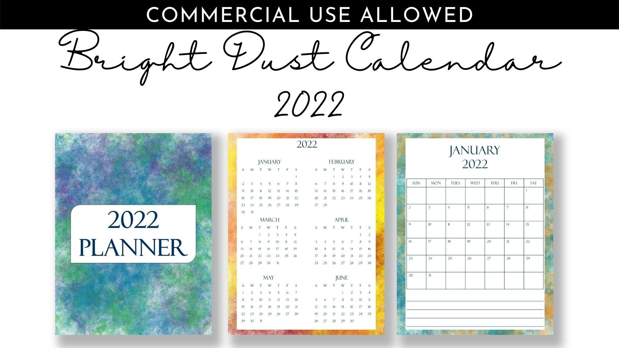 AppSumo Deal for Bright Dust Calendar 2022 Templates