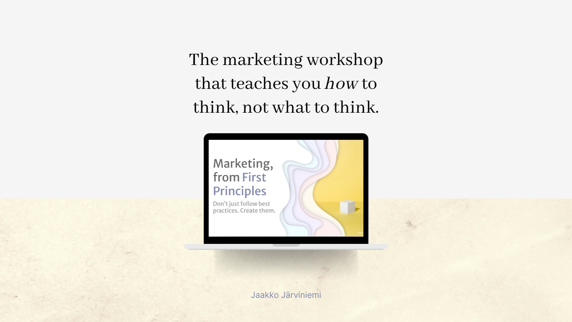 AppSumo Deal for Marketing, from First Principles