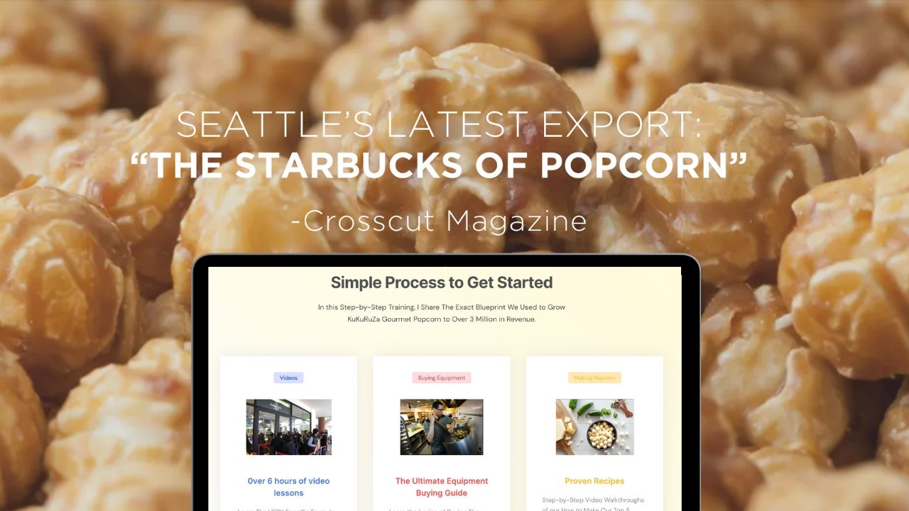 AppSumo Deal for The Gourmet Popcorn Academy: Pro Course