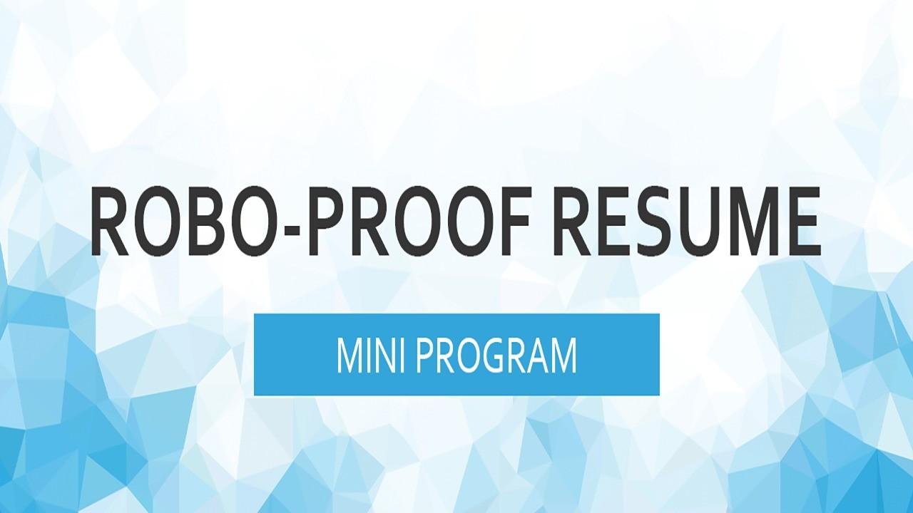 AppSumo Deal for Robo-Proof Resume