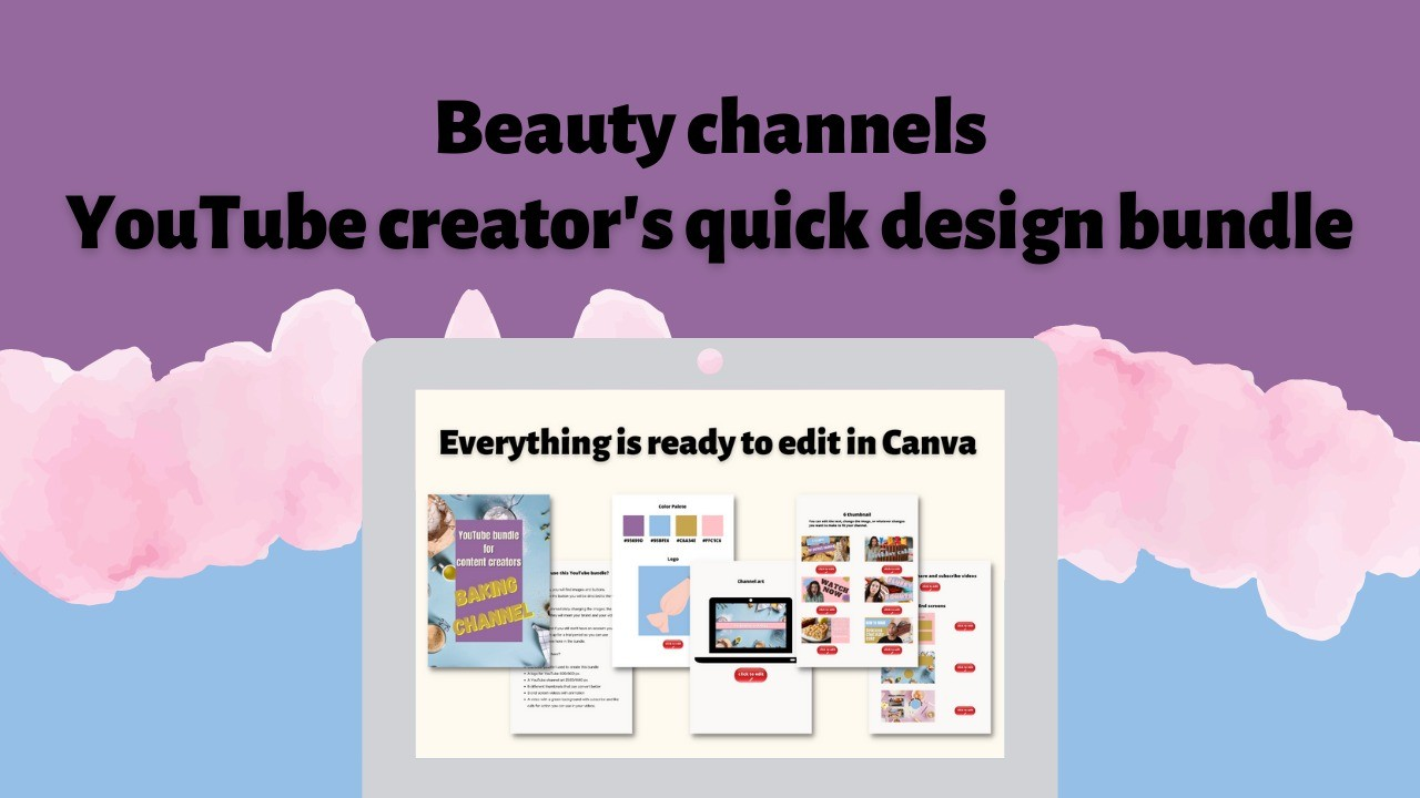 AppSumo Deal for Baking Channel - YouTube Creator's Quick Design Bundle
