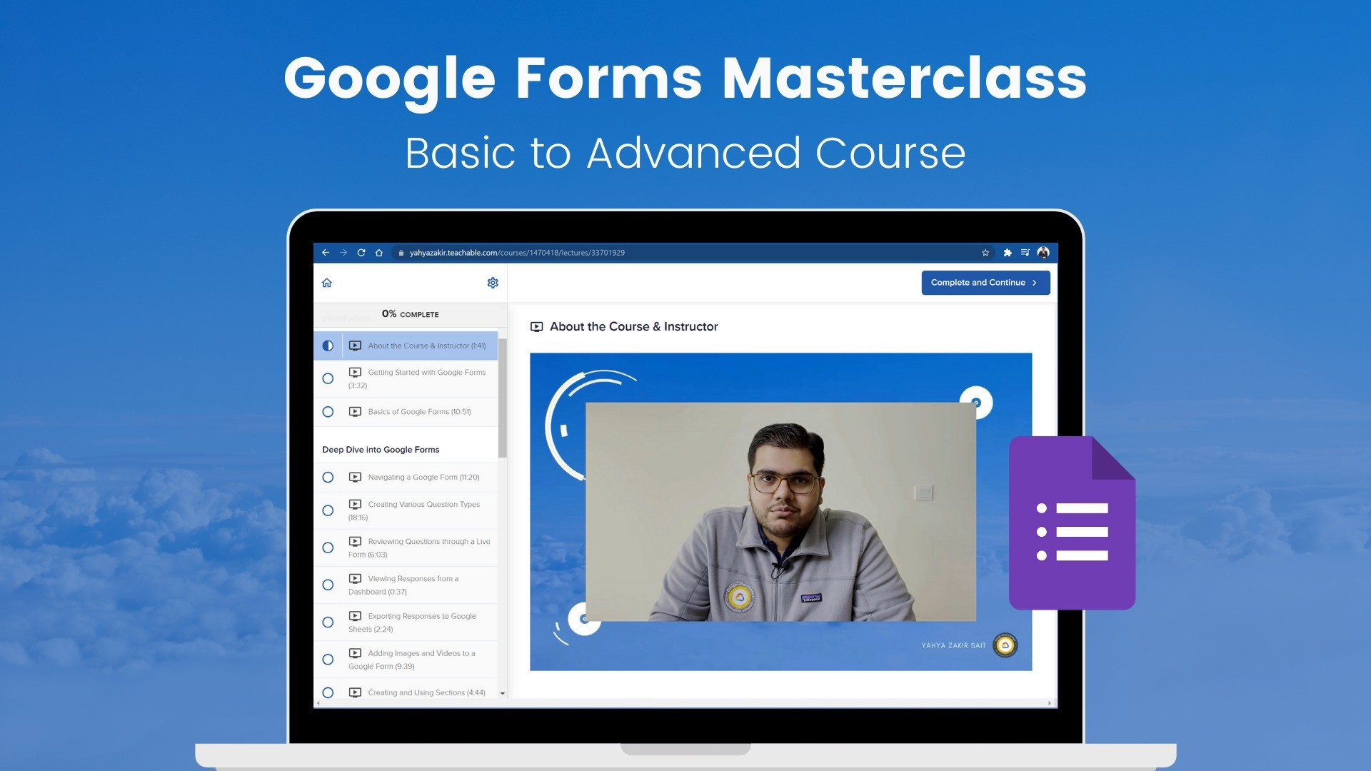 AppSumo Deal for Google Forms Masterclass: Basic to Advanced Course