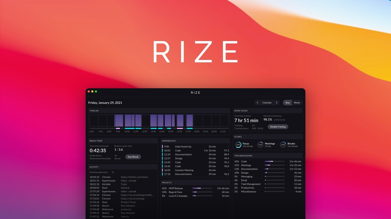 AppSumo Deal for Rize: Your Personal Productivity Tracker - Plus Exclusive