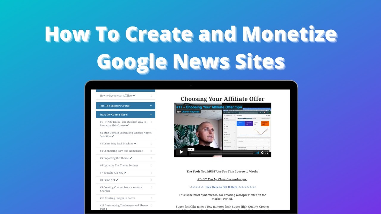 AppSumo Deal for How to Create and Monetize Google News Sites
