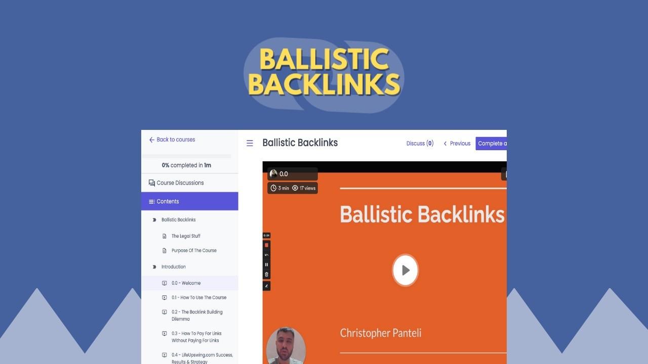AppSumo Deal for Ballistic Backlinks