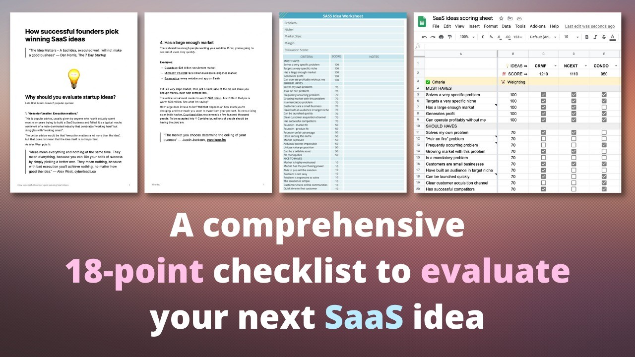 AppSumo Deal for Start Strong: The SaaS Startup Idea Evaluation Template
