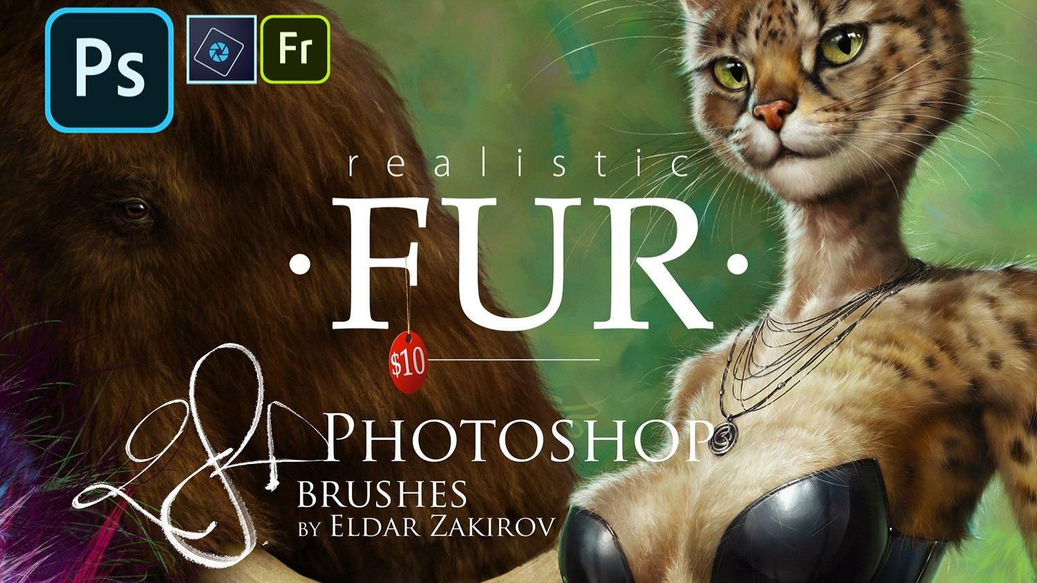 AppSumo Deal for 28 Realistic FUR Brushes for Adobe Photoshop