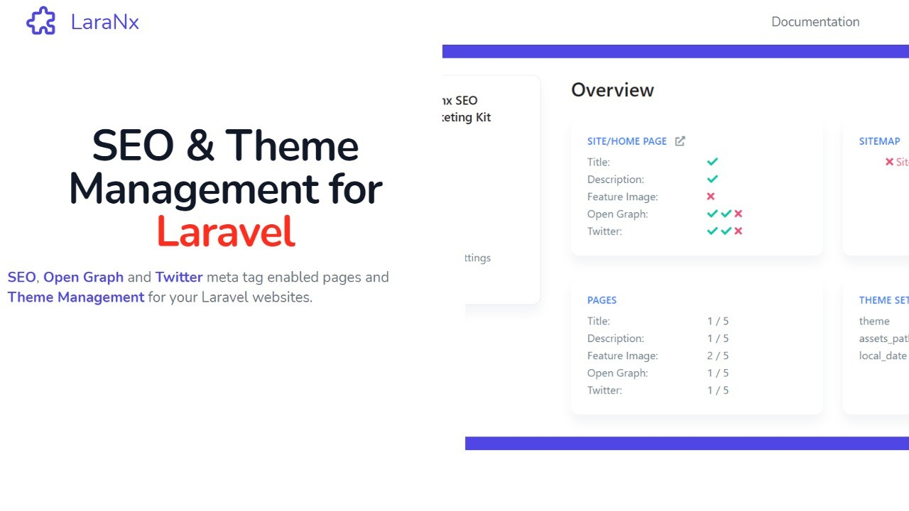 AppSumo Deal for LaraNx - SEO and Theme Management for Laravel