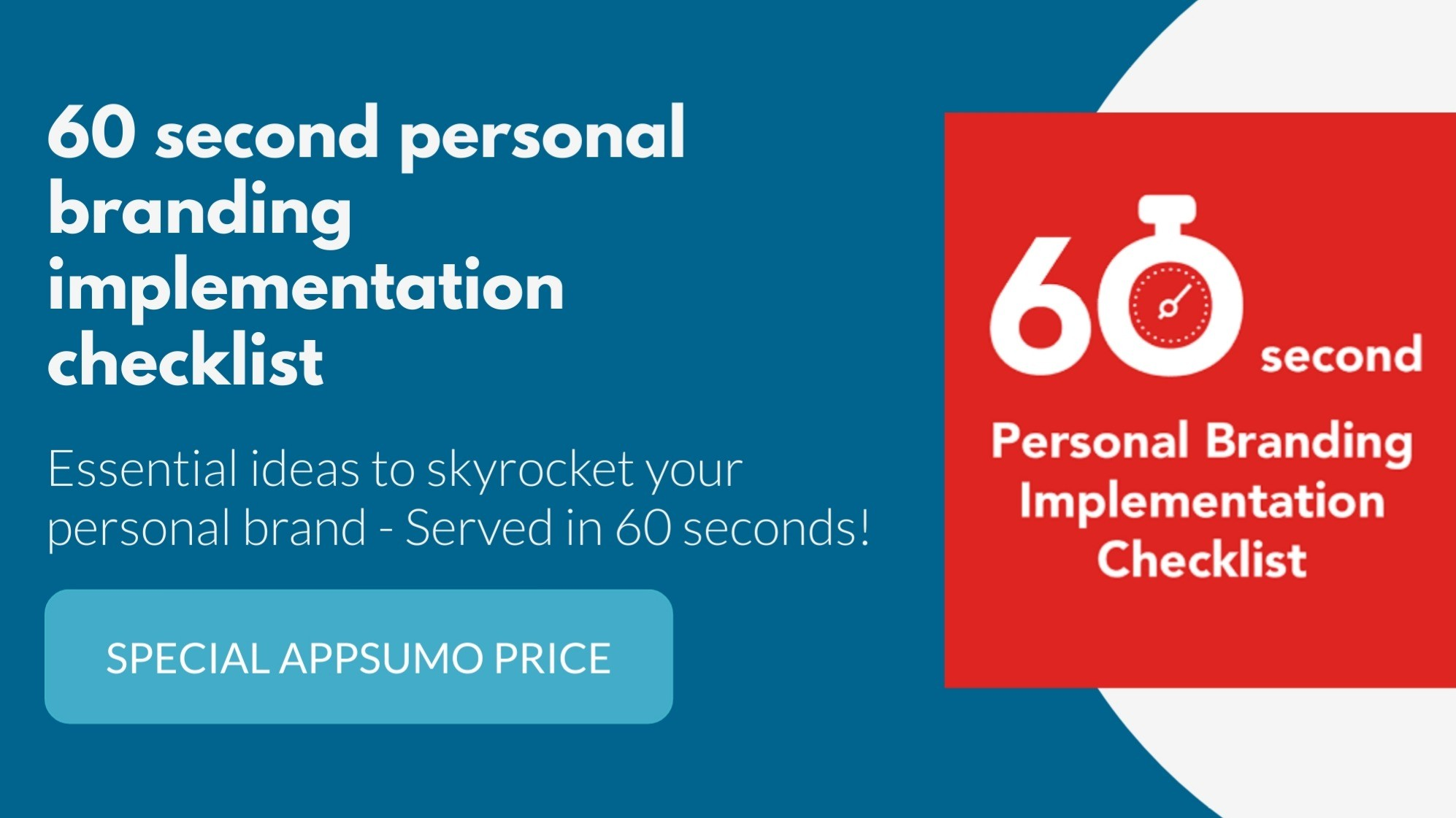 AppSumo Deal for The 60-Second Personal Branding Implementation Checklist
