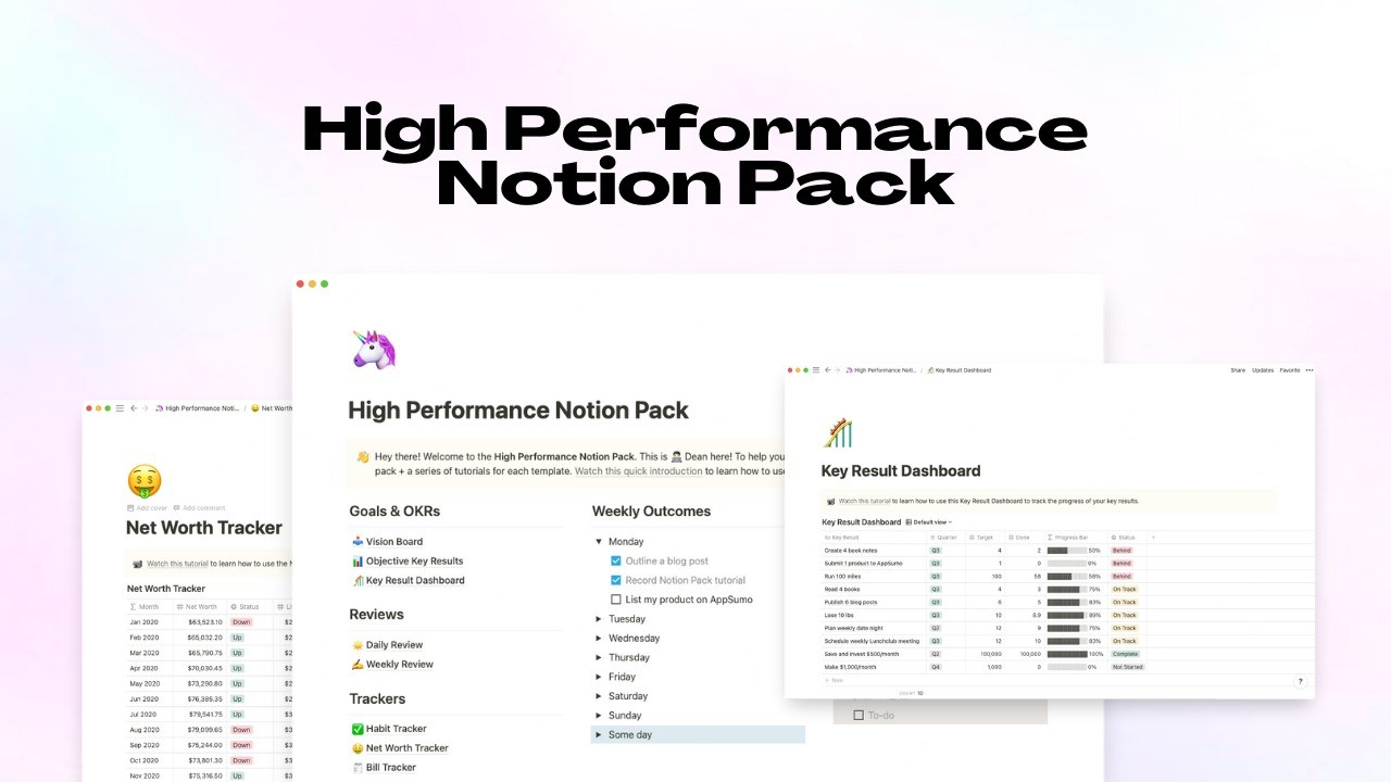 AppSumo Deal for High Performance Notion Pack