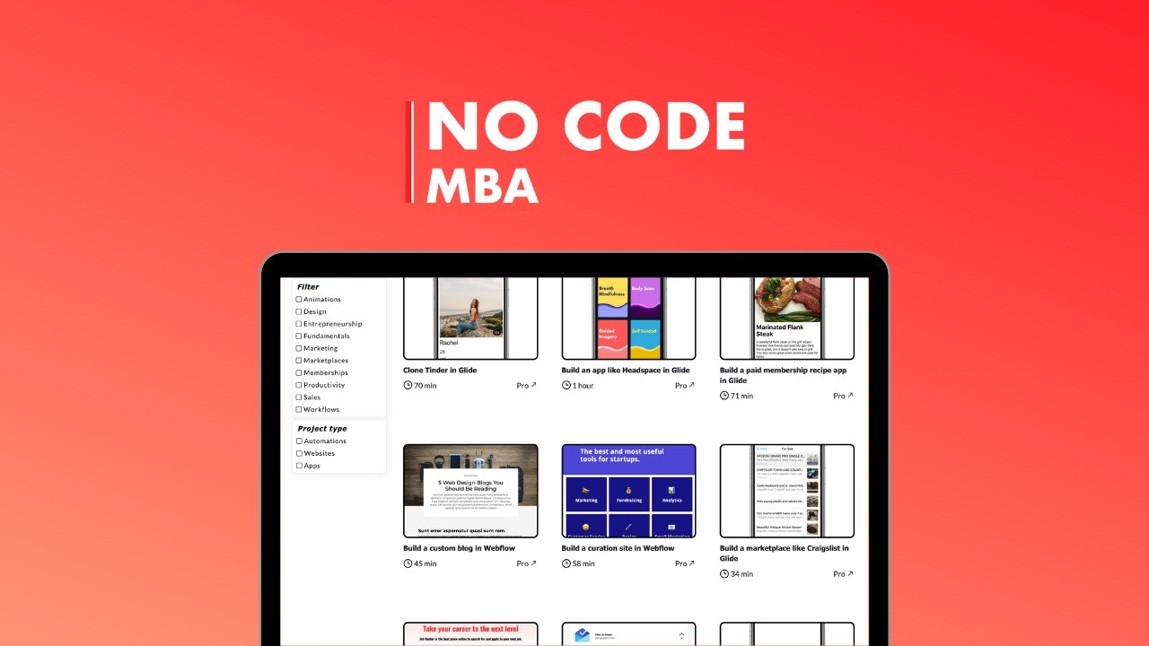 AppSumo Deal for No Code MBA