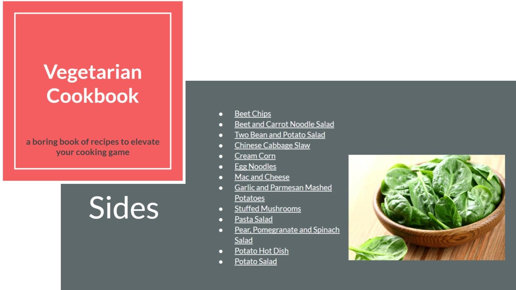 AppSumo Deal for A Boring Vegetarian Cookbook