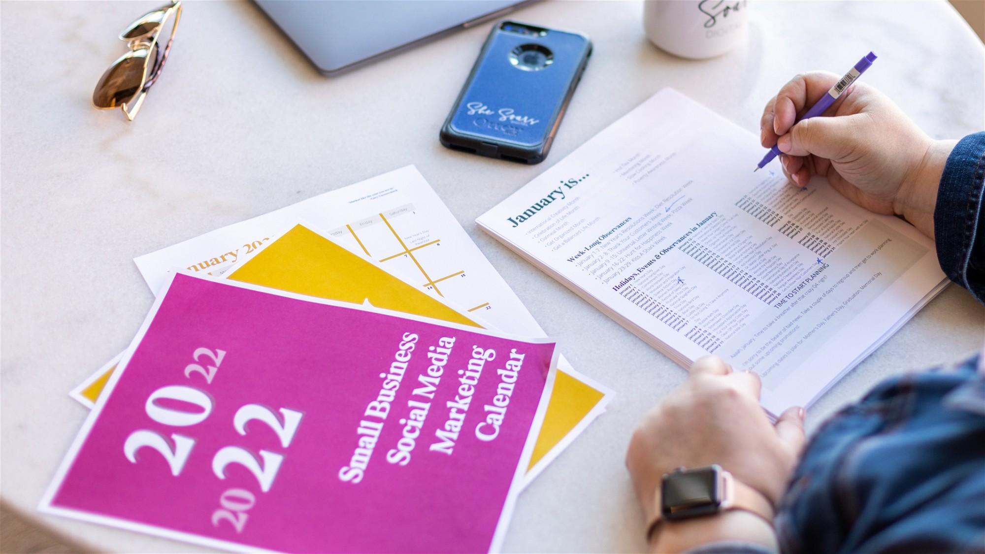 AppSumo Deal for 2022 Small Business Social Media Marketing Planner
