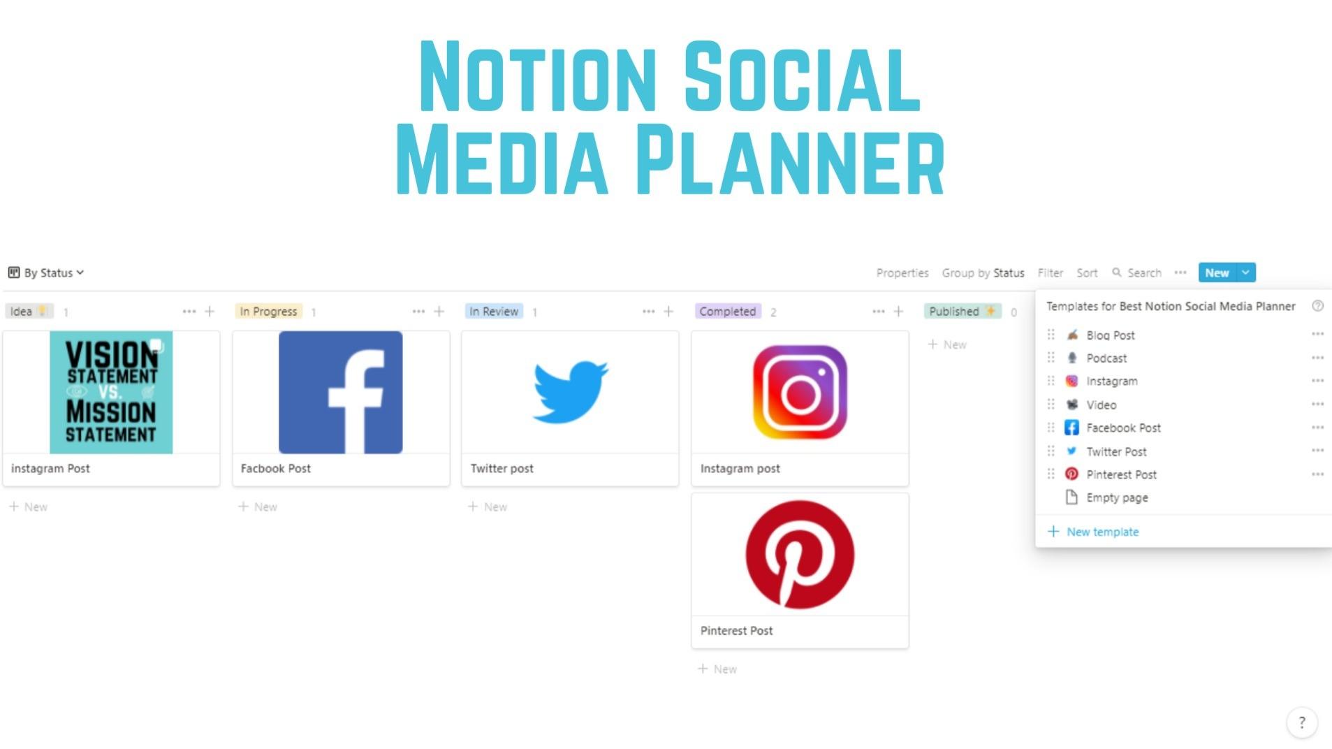 AppSumo Deal for Best Notion Social Media Planner