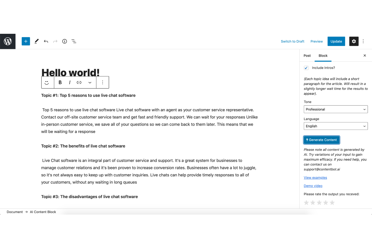Automatically generated content from WordPress