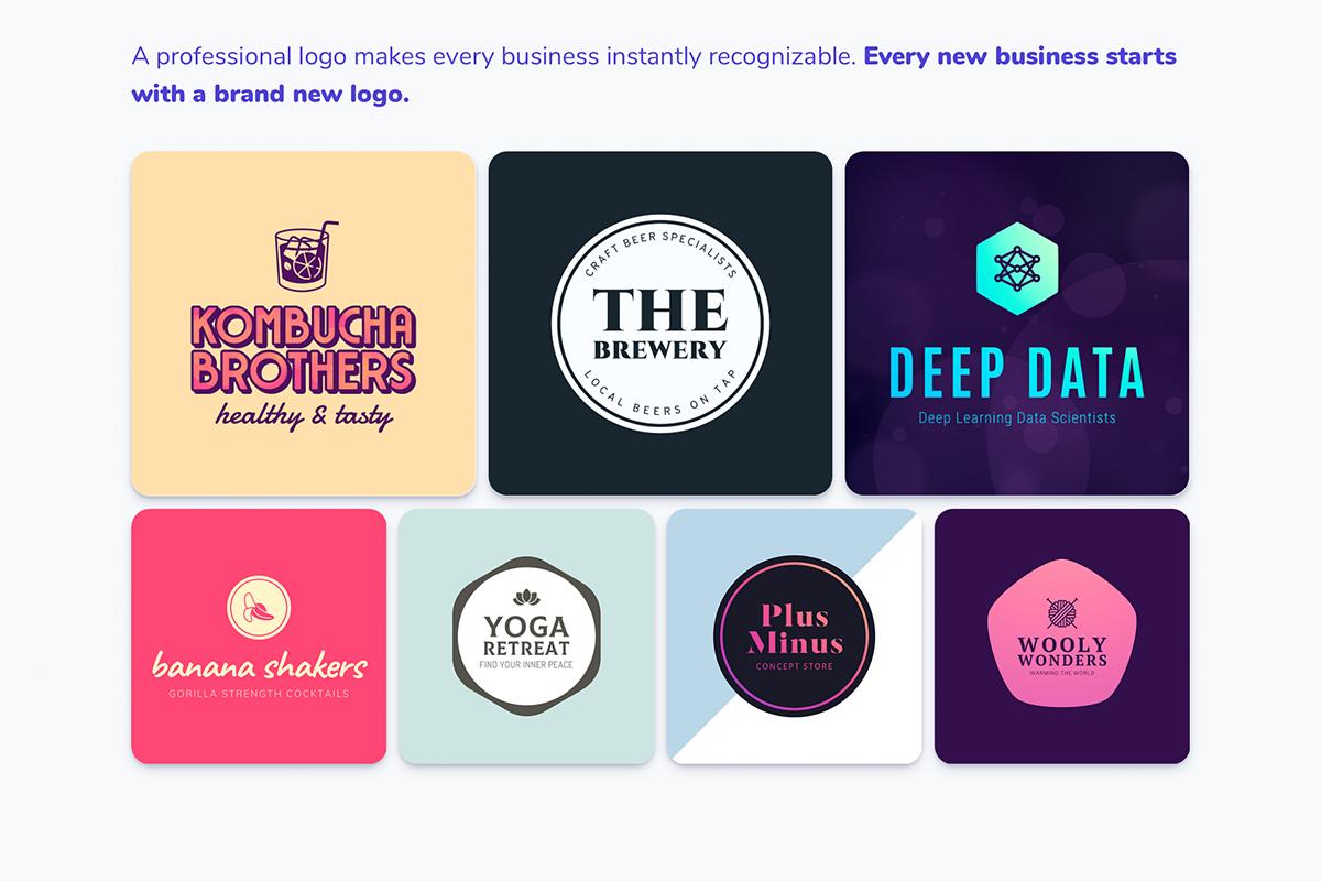 Examples of logos designed via My Brand New Logo