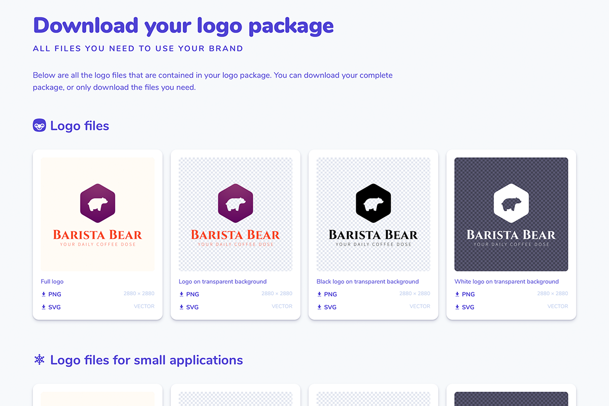 Download page for logo and image variants